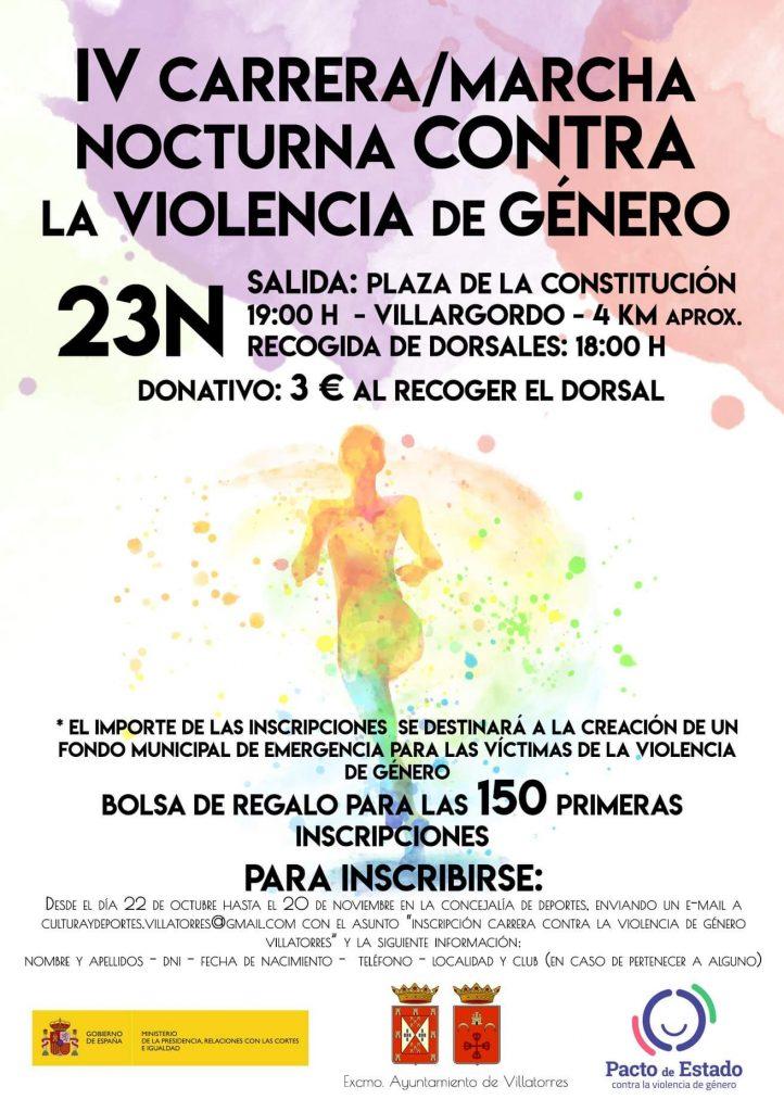 IV CARRERA CONTRA LA VIOLENCIA DE GÉNERO @ Plaza de la Constitución, Villargordo